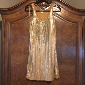 MICHAEL Michael Kors gold sequined dress